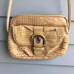 B.MAKOWSKY Embossed Leather Crossbody Bag